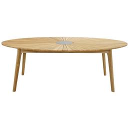 ploß® Tisch »Chester«, mit Teakholz-Tischplatte, BxTxH: 220 x 120 x 75 cm