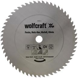 WOLFCRAFT Tisch-Kreissägeblätter, Ø 350 mm, 56 Zähne, Chrom-Vanadium-Stahl