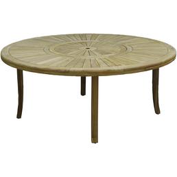 Tisch, ØxH: 180 x 74,5 cm, Tischplatte: Teakholz
