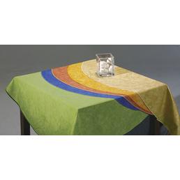 BEST Tischdecke, 210 x 160 cm, Blau, Oval, Baumwolle