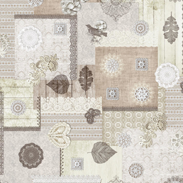d-c-table® Tischdecke »Bergamo«, BxL: 138 x 1500 cm, Tiere/Natur, Vierecke, beige
