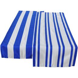 Tischläufer, Polyester, blau/weiß