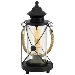 EGLO Tischleuchte »BRADFORD« schwarz mit 60 W, H: 33 cm, E27 ohne Leuchtmittel