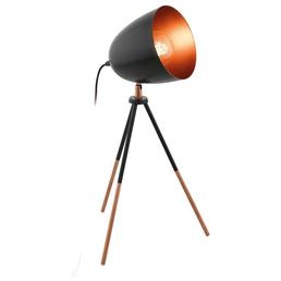 EGLO Tischleuchte »CHESTER« schwarz/kupferfarben mit 60 W, Schirm-Ø x H: 16,5 x 44 cm, E27 ohne Leuchtmittel