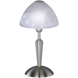wofi® Tischleuchte »MORLEY«, H: 33 cm, Nickel matt