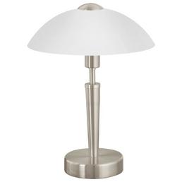 EGLO Tischleuchte »SOLO 1« weiß/nickelfarben mit 60 W, H: 35 cm, E14 ohne Leuchtmittel
