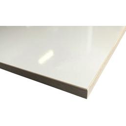 Jürgens Holzprodukte GmbH Tischplatte, weiß hochglanz, Stärke: 27 mm