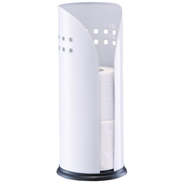 ZELLER Toilettenpapierhalter, Metall, weiß