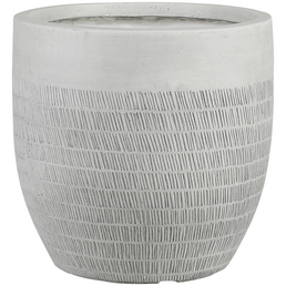 mica® decorations Topf »Mica Country Outdoor Pottery«, Breite: 37 cm, weiß, Naturmaterial