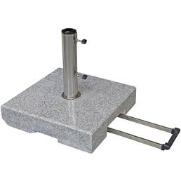 DOPPLER Trolley-Granitsockel, grau, geeignet für Sonnenschirme bis ca. 350 cm