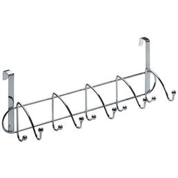 HETTICH Türhängegarderobe, Silber, 5 Doppelhaken, Stahl, Silber, Stahl, 430 x 430 x 135 mm