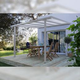 BECKMANN Überdachung »Trend«, Breite: 312 cm, Dach: Polycarbonat-Doppelstegplatten, weiß