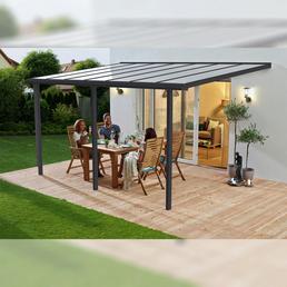 BECKMANN Überdachung »Trend«, Breite: 435 cm, Dach: Polycarbonat-Doppelstegplatten, anthrazit