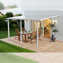 BECKMANN Überdachung »Trend«, Breite: 435 cm, Dach: Polycarbonat-Doppelstegplatten, weiß