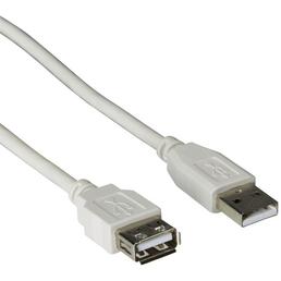 SCHWAIGER USB-Kabel, A-Stecker auf A-Buchse, 2 m, Schwarz