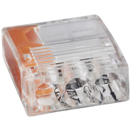 ViD Elektro Verbindungsklemme, C2073, Kunststoff, Transparent/Orange, Leiter mit Ø 0,5 – 2,5 mm²