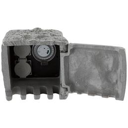 GLOBO LIGHTING Verteilersteckdose »PIETRA I«, 2 Steckdosen, Kunststoff, grau