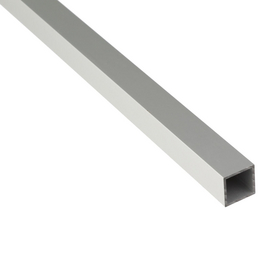 GAH ALBERTS Vierkantrohr, 2000 x 20 x 20 x 1,5 mm, Silber, Aluminium