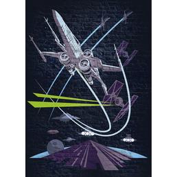 Vliestapete »Classic Concrete X-Wing«, bunt, glatt