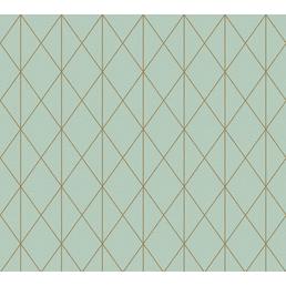 Vliestapete »Designdschungel«, grün/kupferfarben, 1 Rolle