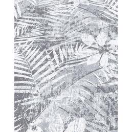 Guido Maria Kretschmer Vliestapete, dunkelgrau, Blätter, matt