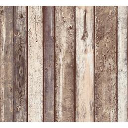 RENOVO Vliestapete »Holzmotiv«, braun, strukturiert, für Feuchträume geeignet