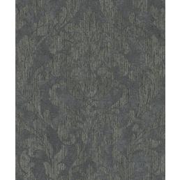 Vliestapete »Nabucco«, schwarz/platingraufarben, strukturiert