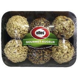 ELLES Vogelfutter »Gourmet-Kugeln«, 6 Packungen à 410 g