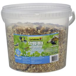 GARTENKRONE Vogelfutter »Streu-Mix«, 1 Eimer à 2500 g