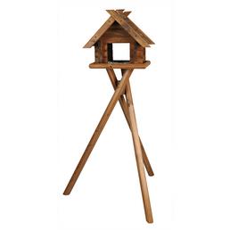 Vogelfutterhaus, BxHxT: 44 x 33,5 x 14,5 cm, braun