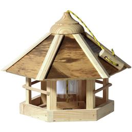 Vogelfutterhaus, für Wildvögel, Kiefernholz/Kunststoff, natur/Holzfarben