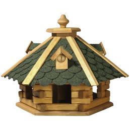 DOBAR Vogelhaus mit grünem Bitumen 6eckig
