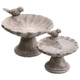 Vogeltränke, Beton, grau