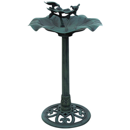 Vogeltränke, , Höhe: 82  cm, Kunststoff, grün