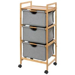 WENKO Wäschewagen, BxHxL: 44 x 96 x 34 cm, Bambus