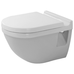 DURAVIT Wand WC »Starck 3«, Tiefspüler, weiß, mit Spülrand