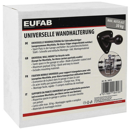 EUFAB Wandhalterung, Stahl, silbermetallic