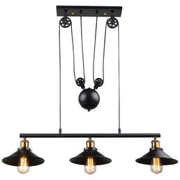 Wandleuchte »LENIUS« schwarz 60 W, 3-flammig, E27, ohne Leuchtmittel