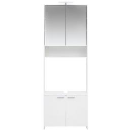 SCHILDMEYER Waschbecken-Umbauschrank »Luis«, B x T x H: 68,5  x 32  x 197,2  cm, glänzend