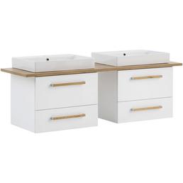 SCHILDMEYER Waschtisch »Duo«, BxH: 165,2 x 61,5 cm, Sanitärkeramik, 2 Becken