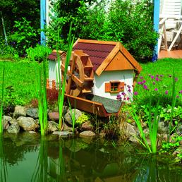 PROMADINO Wassermühle,  Höhe: 59 cm, honigbraun
