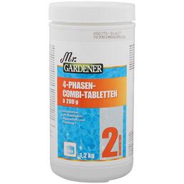 MR. GARDENER Wasserpflege, 1,2 kg 4 Phasen Combi Tabletten, für Pools
