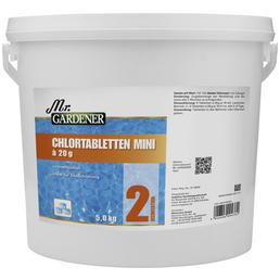 MR. GARDENER Wasserpflege, 5 kg Chlor - Tabletten Mini , für Pools