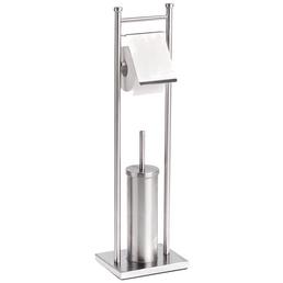 ZELLER WC-Bürsten & WC-Garnituren, Edelstahl, gebürstet, silberfarben