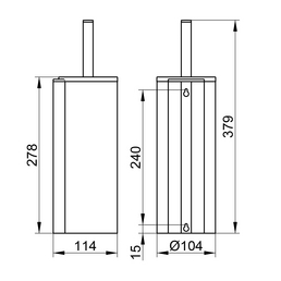 KEUCO WC-Bürsten & WC-Garnituren, Höhe: 37,9  cm, chromfarben