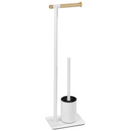 WENKO WC-Bürsten & WC-Garnituren »Macao«, Stahl, weiß