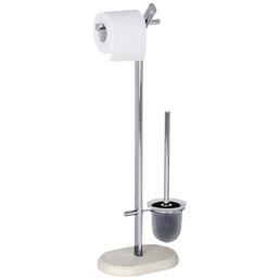 WENKO WC-Bürsten & WC-Garnituren »Puro«, Höhe: 72 cm, chromfarben/beige