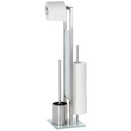 WENKO WC-Bürsten & WC-Garnituren »Rivalta«, Höhe: 70 cm, silberfarben