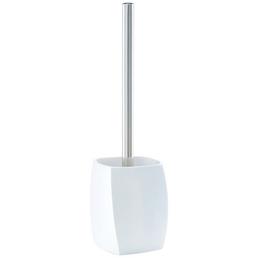 ZELLER WC-Bürsten & WC-Garnituren »Twisted«, Polyresin/Edelstahl, matt, silberfarben/weiß