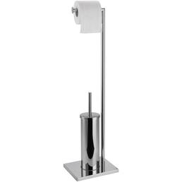 WELLWATER WC-Bürstengarnitur, Höhe: 80 cm, chromfarben